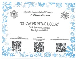 "FAYETTE CENTRAL SCHOOL PRESENTS ""STRANGER IN THE WOODS"""