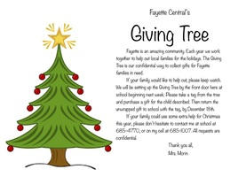 Fayette Central School Announces the Giving Tree for 2020